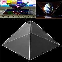 Cewaal Proyector del holograma de Smartphone, video holográfico del proyector de la pirámide de la exhibición 3D para el teléfono elegante móvil