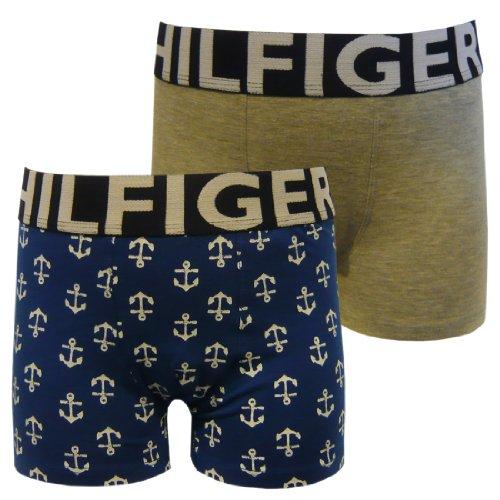 Tommy Hilfiger Jungen Boxershort 2 er Pack 2-PACK DAMIAN TRUNK / E557119325, - Newton Olympian Blue, 10 Jahre (140-146 cm)