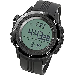 LAD WEATHER lad004bkno-eu - Wristwatch for men, black polyurethane strap