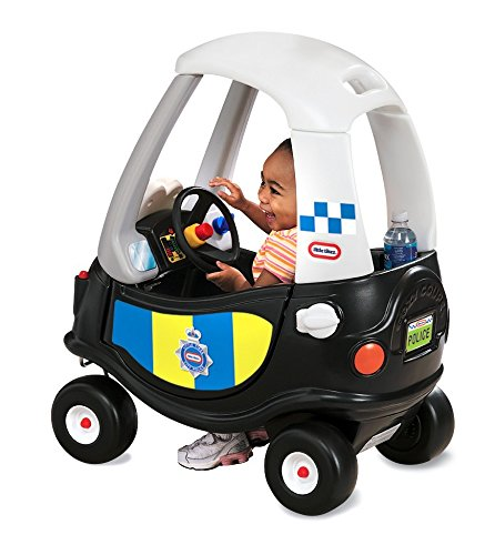 Little tikes- Tikes Patrol Police Car Refresh Andadores, Negro, Color Blanco 172984E3