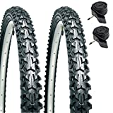 """CST Eiger - Ruote per Mountain Bike da 26"""" X 1.95"""" (Paio) + Camere d'Aria Presta"""