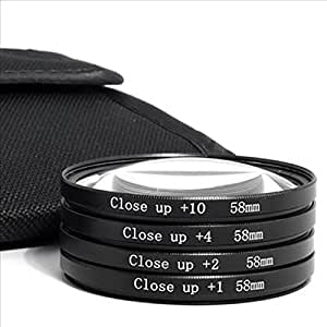 Spe 58Mm Macro Close Up Lens Filter +10 For Canon Eos Ef 18-55Mm 55-250Mm Lens