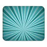 Mouse Pads Aquamarine Turquoise Colored Pop Blue Comics Book Lichtenstein Popart Strip Sunlight Sun Ray Space Funny Mouse Pad 9.5' x 7.9' for Notebooks,Desktop Computers Office Supplies