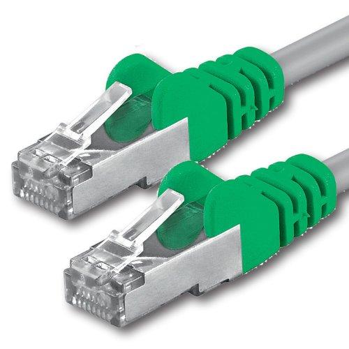 1aTTack CAT 5e Crossover FTP Netzwerk Patch-Kabel mit 2X RJ45 Stecker 0,5m -