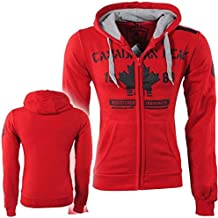 Canadian Peak - Veste pour Homme - Sweat - Capuche - Fabis - Rouge 8e210b747ab