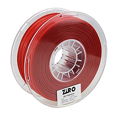 ZIRO 3D Printer Filament PLA 1.75 1KG(2.2lbs), Dimensional Accuracy +/- 0.05mm, Bright Red