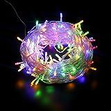 Yorbay 25m 200 LEDs Lichterkette Bunt IP44 wasserdicht aus Kupferdraht mit 8 Modi für Weihnachten, Party, Hochzeit, Haus Dekoration, Innen & Außen