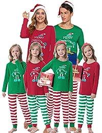 Abollria Set Pigiama Famiglia per Natale,Famiglia Caldo Manica Lunga Pigiama Due Pezzi Invernale,Pigiama Famiglia Coordinati Natale per papà Mamma Bambini