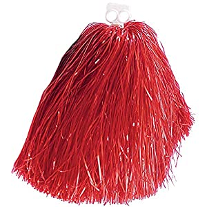 Pom Pom Red Accessory for American Sports Fancy Dress