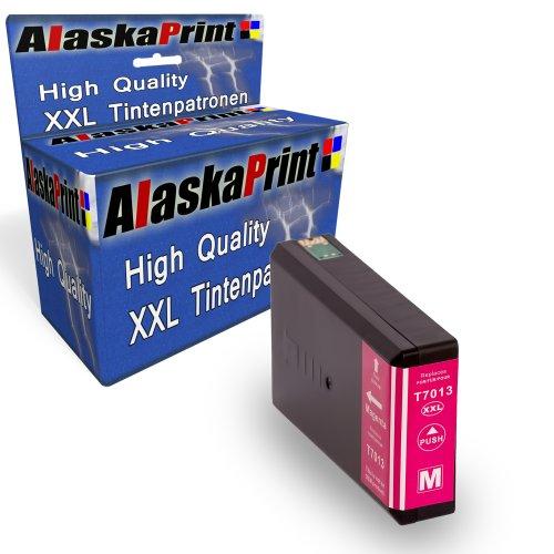 Preisvergleich Produktbild Druckerpatrone Kompatibel für Epson T7023 T7013 T7033 XL Magenta Rot für Epson WorkForce PRO WP4015 WP4025 WP4095 WP4515 WP4525 WP4535 WP4545 WP4595 WP 4015 WP 4025 WP 4095 WP 4515 WP 4525 WP 4535 WP 4545 WP 4595 Epson Workforce Pro WP-4000 WP-4015DN WP-4095DN WP-4500 WP-4515DN WP-4525DNF WP-4595DNF WP-4025DW WP-4535DWF WP-4545DTWF mit Chip 1xT7013M