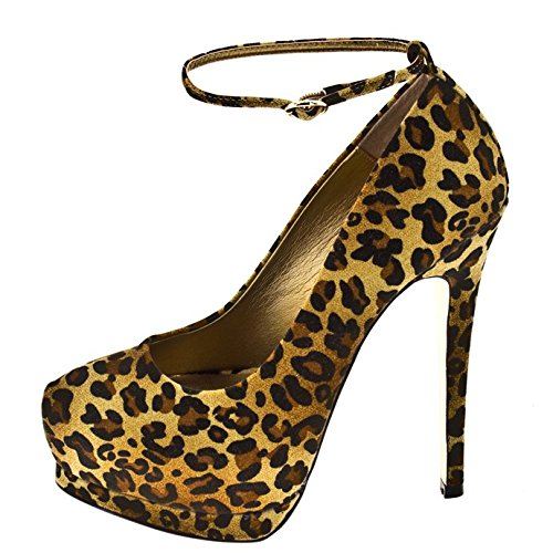 1TO3 - Chaussure avec plate-forme strass Animal print - Combi1
