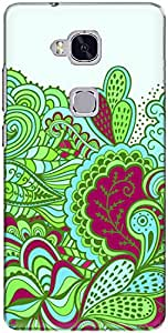 The Racoon Green Dood Grip printed designer hard back cover for Huawei Honor 5C