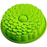 FantasyDay® 1 cavidades moldes de silicona para hielo, tartas, chocolate - 100% alimentarias y sin bpa - Flor