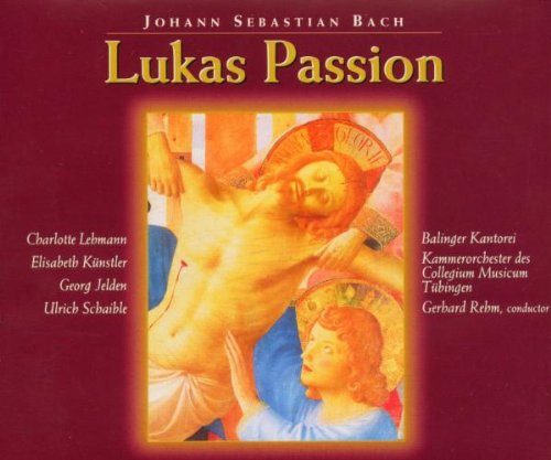 Lukaspassion, BVW 246 -