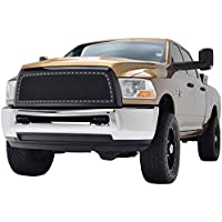 E-Autogrilles 10-12 Dodge Ram 2500 / 10-12 Dodge Ram 3500 Rivet All Black Stainless Steel Wire Mesh Packaged Grille (46-0228) by E-Autogrilles