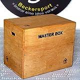 Becker-Sport Germany Master Box Standard 75 x 60 x 50 cm, (ca. 30 x 24 x 20 inch), Jump Box, Furnier - Holz Komplett mit Schutzlack überzogen, Kanten abgefräst und gerundet