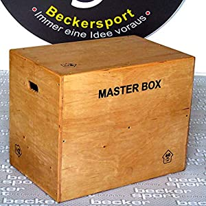 Becker-Sport Germany Master Box Standard 75 x 60 x 50 cm, (ca. 30 x 24 x 20 inch), Jump Box, Furnier – Holz Komplett mit Schutzlack überzogen, Kanten abgefräst und gerundet