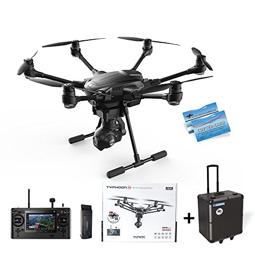 Yuneec Typhoon H Advanced im DS24 KOFFERSET - Hexacopter mit 4K CGO3+ ST16 Hinderniserkennung Anti-Collision