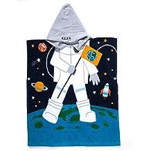Florica Accappatoio da Bagno Ragazzo Cotone con Cappuccio Asciugamano da Bagno Avvolgente Abbigliamento da Spiaggia Morbido Cartone Animato per Ragazze (Astronauta, 60_x_70_cm)