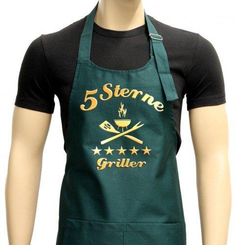 5Sterne Griller-Grembiule-Grigliare-BBQ Grembiule grill Sport, Verde