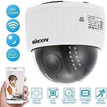 """KKmoon 1080P HD Cámara IP Wifi Domo 2.0MP 1/3"""" CMOS, PTZ 2.8-12mm, Auto-Foco, Zoom Lens, 22 IR Lamps IR-CUT Visión Nocturna APP Control Detección Movimiento Uso Interior"""