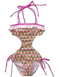 OverDose Traje de baño de una pieza del traje de baño del bebé de los cabritos que baña la ropa del bikiní del bañador