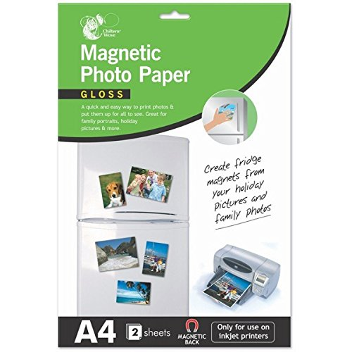 6 Sheets A4 Magnetic Photo Paper Gloss/3 packs of 2