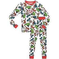 Marvel - Pijama para Niños - Avengers - Ajuste Ceñido - 5-6 Años