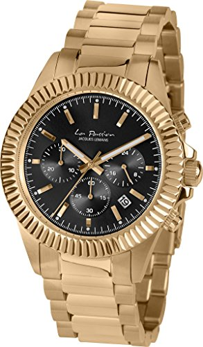 Jacques Lemans Unisex-Armbanduhr La Passion Chronograph Quarz Edelstahl beschichtet LP-111Q