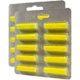 TOP - (Olor: Limón) 20 Ambientadores / Perfumado palos Para aspiradora Bestron K 1600 EZ, Monix Rondo, Hoover DV 1100 bis 2099 Diva, Rowenta RU 18 / RU18