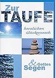 Glückwunschkarte zur Taufe Taufkarte Steinturm Wasser