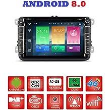 Android 8.0GPS DVD USB SD Wifi Bluetooth Radio 2Din GPS vw golf 6/Golf 5/Passat/POLO/TIGUAN/Touran/Jetta/Caddy/SHARAN/Skoda/Seat/VW