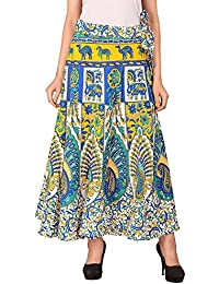 Mirav Fashion Women's Wrap Skirt (Multi-Coloured-Free-Size)