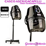 CASCO ASCIUGACAPELLI PROFESSIONALE CAPELLI RAP HAIR MADE ITALY BIANCO PER PARRUCCHIRE immagine