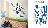 FOOTBALL CHILDREN WALL STICKERS LARGE SET OF STICKERS KID'S BEDROOM DECOR NURSERY DECALS ART MURAL Football Footie Sport Wall Decoration