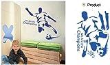 Fußball Wandsticker Wanddekoration Kinder Wandbild Aufkleber Sport