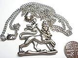 Rastafarian großer Silberanhänger Löwe des Judah Silber 925 vergoldet USA Qualität
