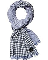 Scotch & Soda Herren Schal 13010170005 - Bonded scarf in stripes & checks