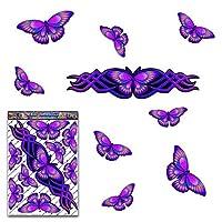 JAS Stickers® BUTTERFLY ANIMAL Car Sticker - Purple - Large Vinyl Decal Pack For Laptop Luggage Bicycle Bike Caravans Van Camper Trucks & Boats - ST00021PL_LGE