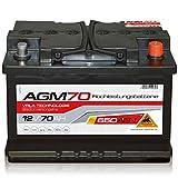 Panther AGM 70 - 12 V / 70 Ah - 650 A/EN - AGM70 Autobatterie