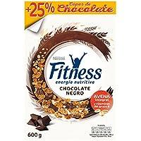 Cereales Nestlé Fitness con chocolate negro - Copos de trigo integral, arroz y avena integral tostados - 16 paquetes.