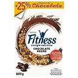 Cereales Nestlé Fitness Copos de trigo integral, arroz y avena integral tostados con chocolate negro - 16 paquetes de 600 gr