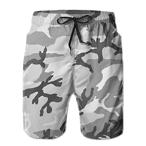 khgkhgfkgfk US Army Camouflage Men's Polyester Beachwear Board Shorts Quick Dry Medium -
