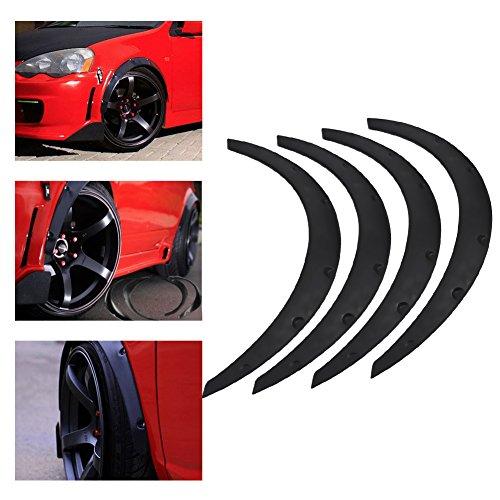 4 Stück Universal Auto Radlaufschutz Radlaufleisten Rad Augenbraue Schutz für Autos