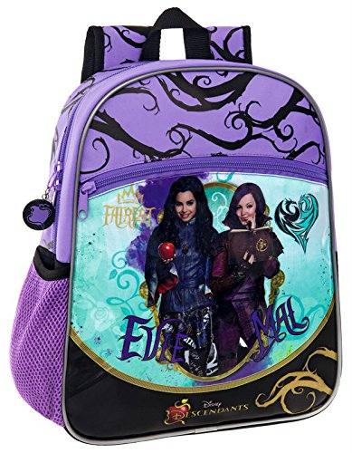 Disney-Cartera-descendientes-bolsillos-laterales-34-cm-diseo-de-criaturas-descendientes-Disney