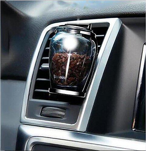 Preisvergleich Produktbild XIAOYA Aroma Diffusor Zeolith Glas Diffuser Auto Lufterfrischer Ätherisches Öl Luftreinigungsapparat Entfernen Sie Rauch Und Schlechte Gerüche, BLACKANGEL