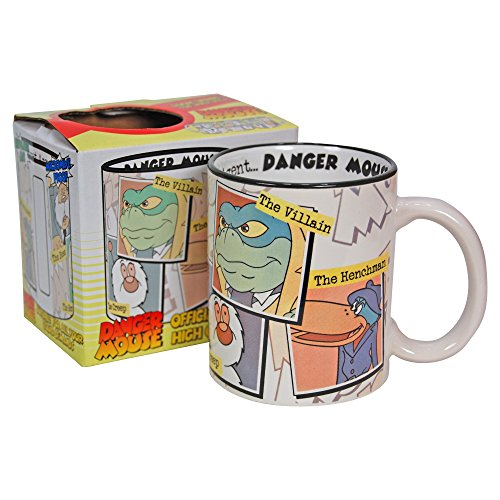 Danger Mouse Cartoon Characters Collage Mug. Gift boxed
