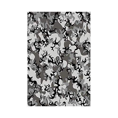 Liumiang Eco-Friendly Manual Custom Garden Flag Demonstration Flag Game Flag,Camo,Battledress Concept Concealment Artifice Hiding Force Uniform Pattern Fashion,Black Grey Silvere d¨¦COR