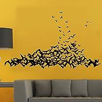 hangnuo Happy Halloween Zucche Halloween strega Cimitero Tomba e pipistrelli decalcomanie da parete finestra adesivi Halloween decorazioni per camerette per bambini Nursery Halloween Party #8