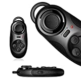 Motionjoy® Mini portatile Multi-Functional Wireless Bluetooth 2.0 Self Timer Selfie scatto remoto per Apple IOS Android Phone Tablet PC VR gioco Console Joystick Gamepad Controller (Nero) - Motionjoy - amazon.it